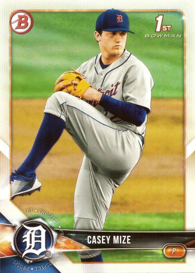2018 Bowman Draft Baseball #BD-1 Casey Mize Pre-Rookie Card - 1st Bowman Card