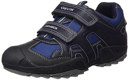 Geox J New Savage a, Zapatillas para Niños, Azul (Navy), 32 EU