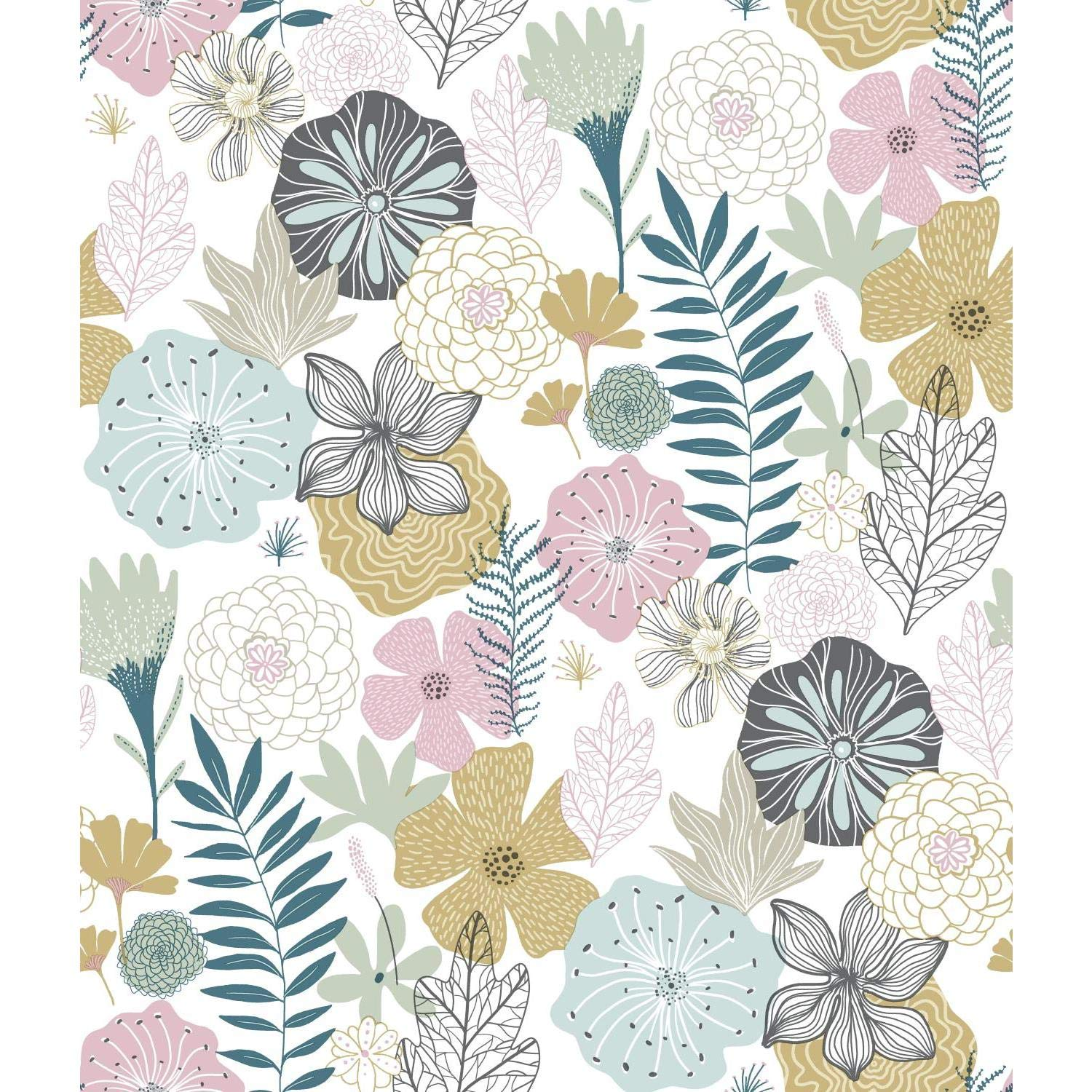 RoomMates Perennial Blooms Peel and Stick Wallpaper by RoomMates