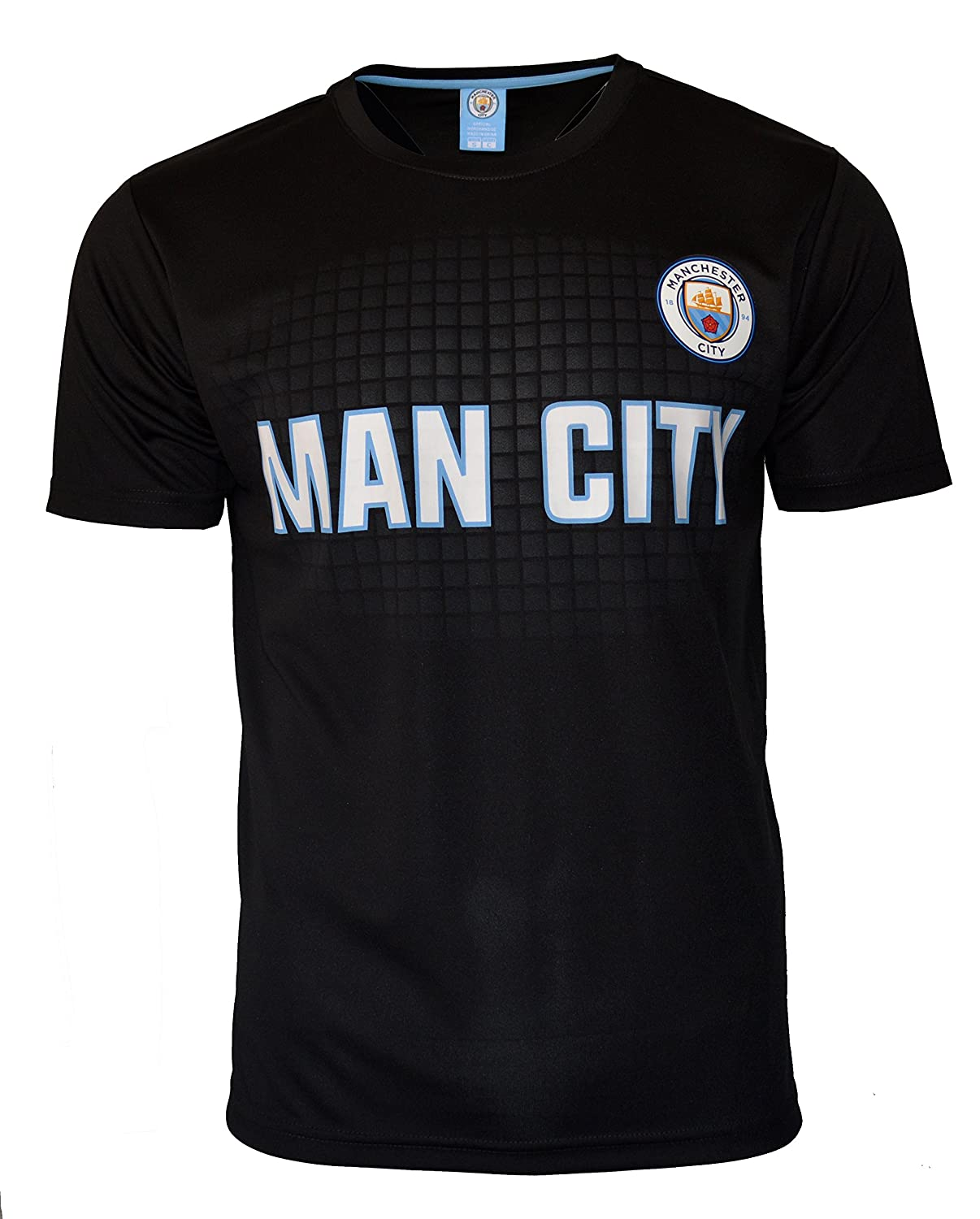 Amazon.com   Manchester City Soccer Jersey Black Men s Adult Training Custom  Name and Number   Sports   Outdoors f22b5e60583b