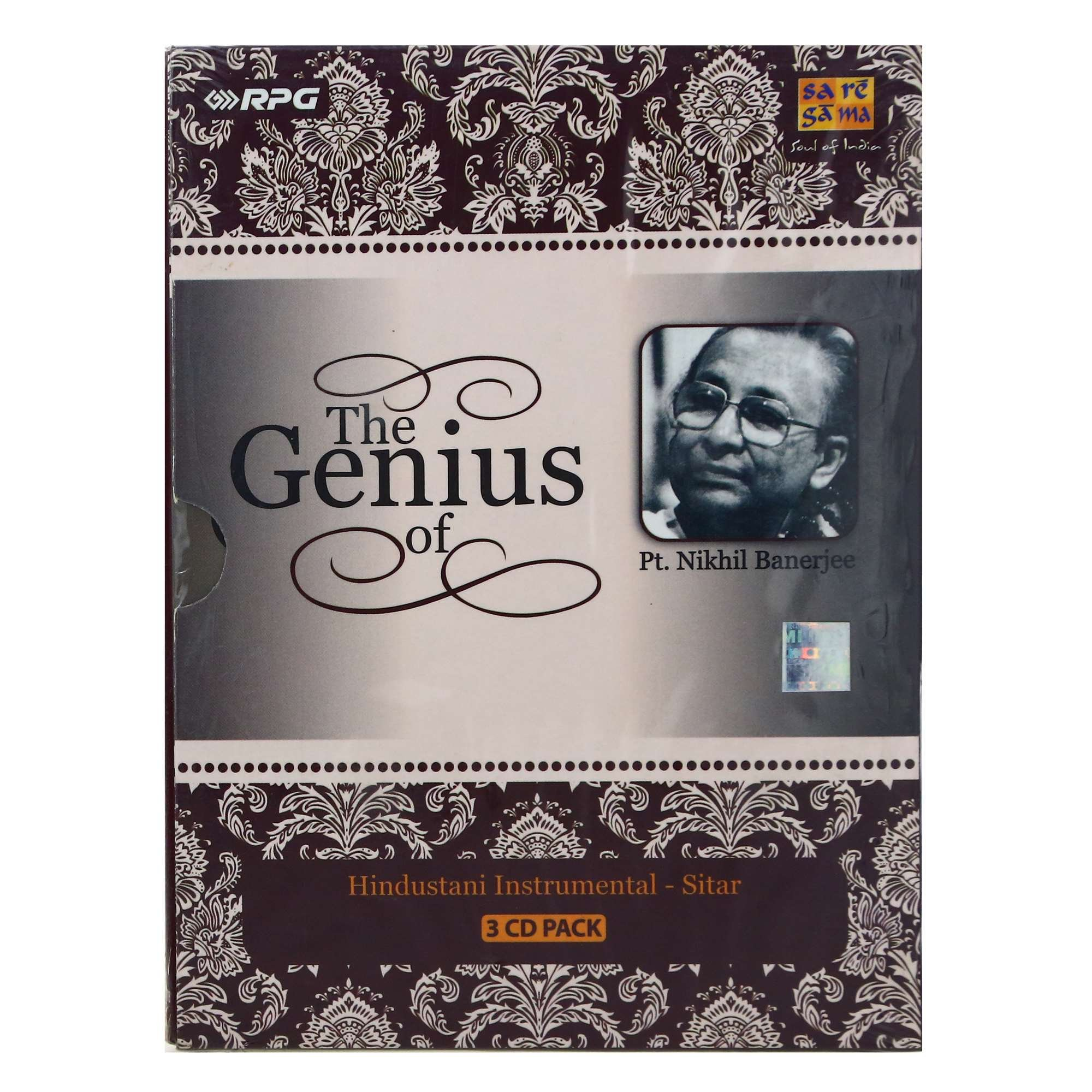 The Genius Of Pt. Nikhil Banerjee (3-CD Pack / Hindustani Classical Instrumental - Sitar / Collector's Pack) by Saregama