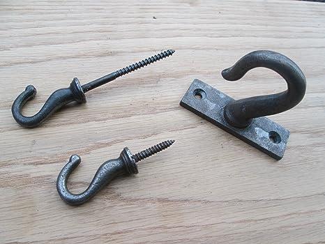 Ironmongery World® de hierro fundido ganchos gancho de techo ...