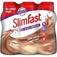 SlimFast Meal Replacement Shake, Cafe Latte, 325 ml, Pack of 6