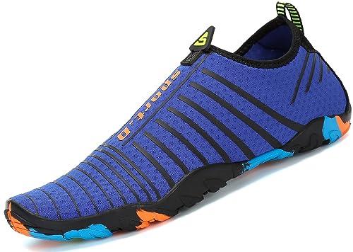katliu Zapatos de Agua Mujer Hombre Escarpines para Surf Piscina Playa Yoga Deportes Acuáticos: Amazon.es: Zapatos y complementos