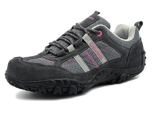 Knixmax Zapatillas de Senderismo para Mujer, Zapatillas de Montaña Trekking Trail Ligeros Cómodos y Transpirables, Zapatillas de Seguridad Low-Top ...