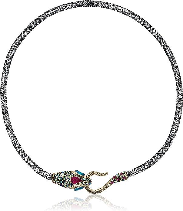 Betsey Johnson  Pet Shop Dog Illusion Three Chains $45 #236a