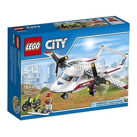 Amazon.com: LEGO CITY Ambulance Plane 60116: Toys & Games