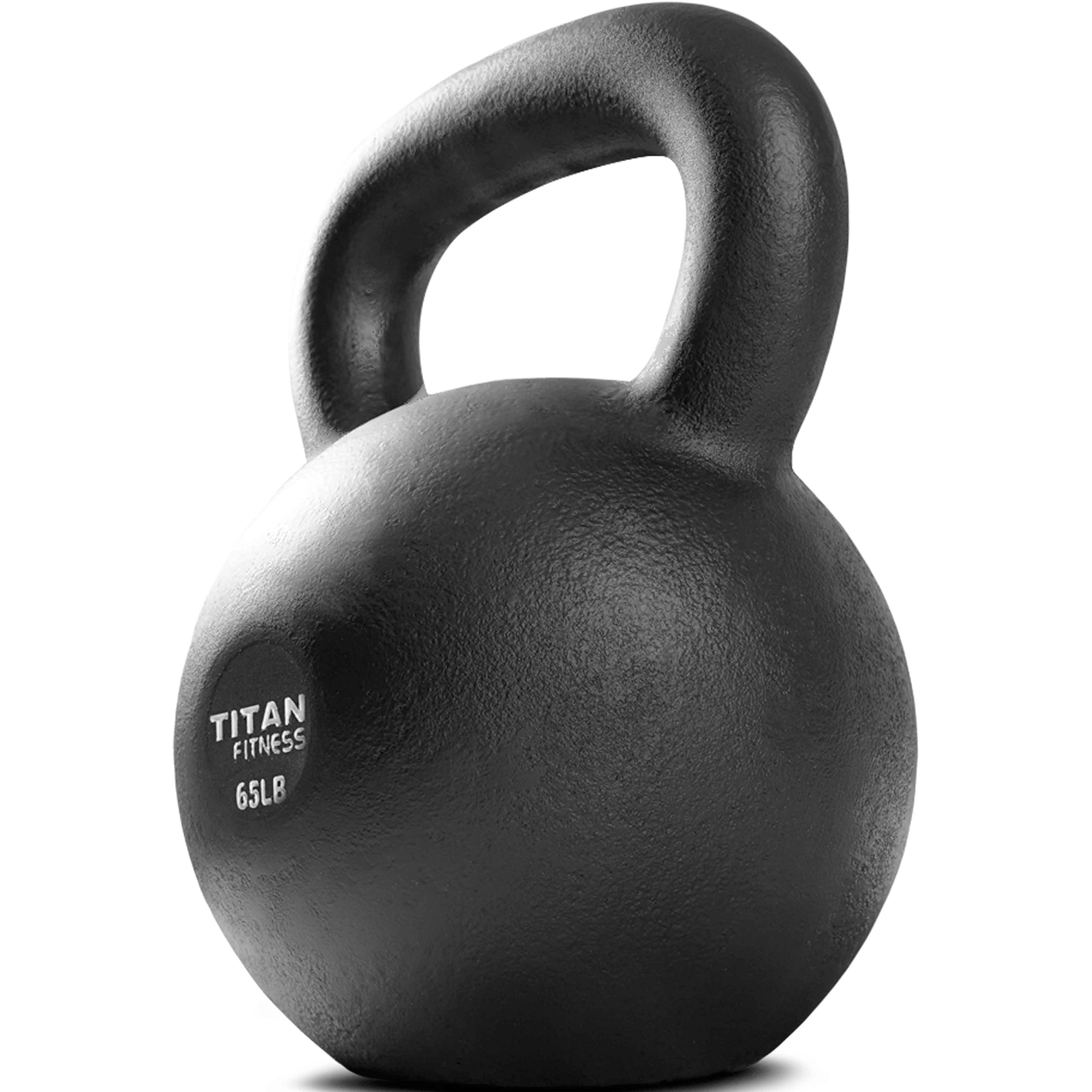Titan Fitness Cast Iron Kettlebell Weight 65 lb Natural Solid Workout Swing by Titan Fitness