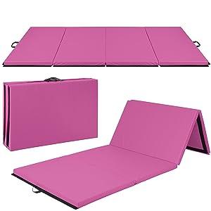 Best Choice Products 4'x10'x2 Gymnastics Gym Folding Exercise Aerobics Mats Stretching Yoga Mat