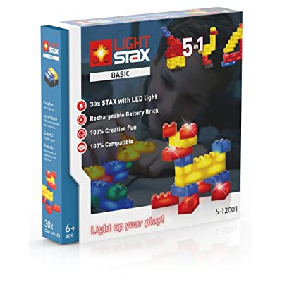 Light Stax System Basic 30-Piece Illuminated Building Blocks Set: Toys & Games