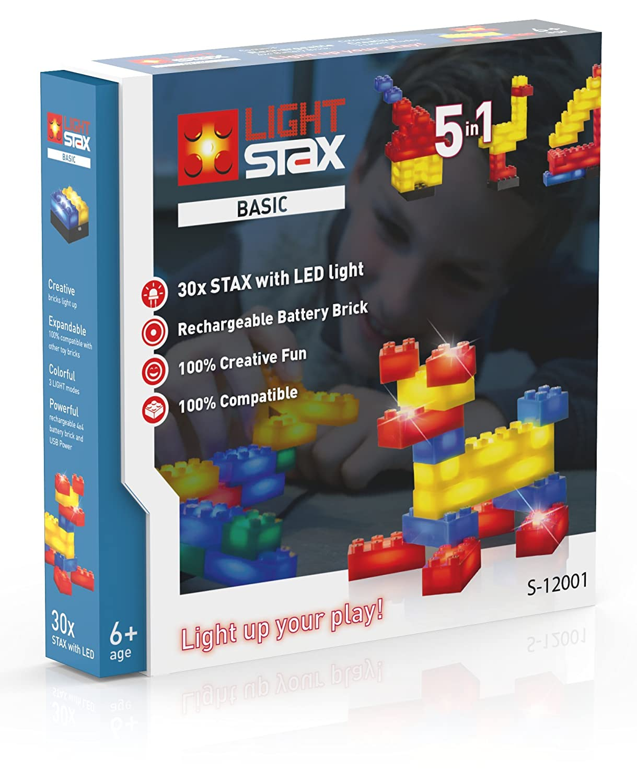 30-Piece Basic Set S-12001 Light Stax Illuminated Building Blocks