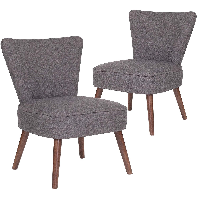 Flash Furniture 2 Pk. HERCULES Holloway Series Black Leather Retro Chair