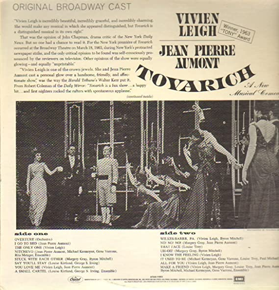 TOVARICH (BROADWAY ORIGINAL CAST LP, 1977 LTD REISSUE ...