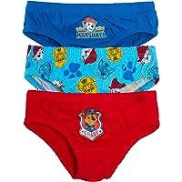 Paw Patrol Paquete múltiple de calzoncillos para niños Chase Marshall, ropa interior para niños (paquete de 3)