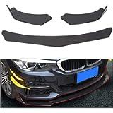 ECOTRIC Black Universal Front Bumper Lip Chin Spoiler ABS for Audi,Ford,BMW,Honda,Chevrolet,Civic,Benz,Mazda,GMC Car