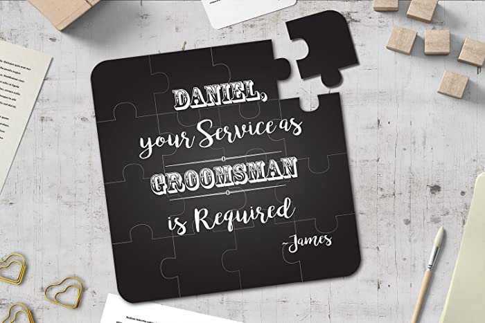 Groomsman puzzle invitation will you be my groomsman best man gift groomsman puzzle invitation will you be my groomsman best man gift wedding invitation junglespirit Image collections
