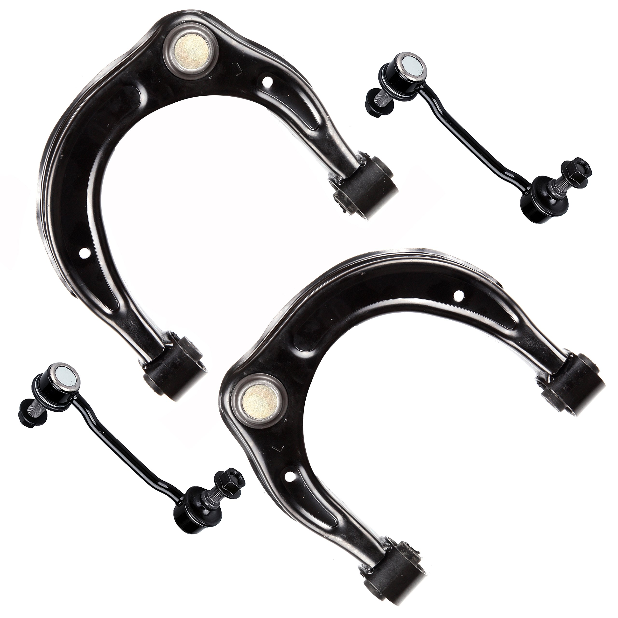 SCITOO 4pcs Suspension Kit 2 Front Upper Control Arms + Ball Joints 2 Sway Bar Links fit 2006-2011 HYUNDAI AZERA 2006-2010 HYUNDAI SONATA All Models 2007-2009 KIA AMANTI All Models K621230 K80949