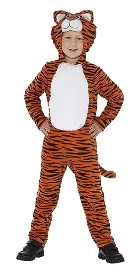 Smiffys-46754T Disfraz de Tigre, Naranja y con Mono con Capucha y ...