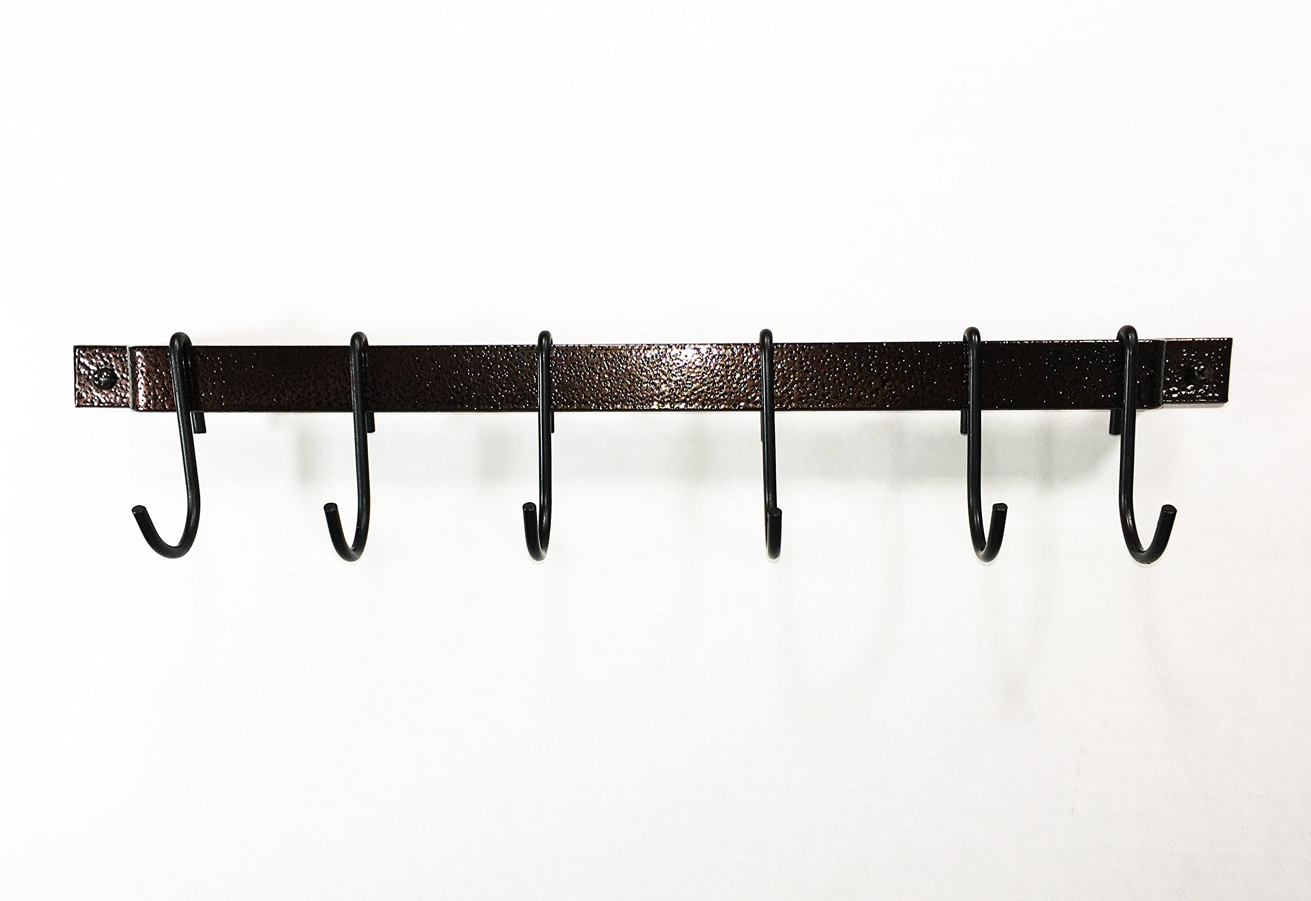 Rogar 18'' Hammered Copper Utensil or Utility Bar Rack by Rogar