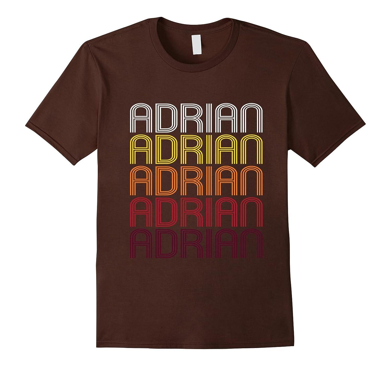 Adrian Retro Wordmark Pattern - Vintage Style T-shirt-CL