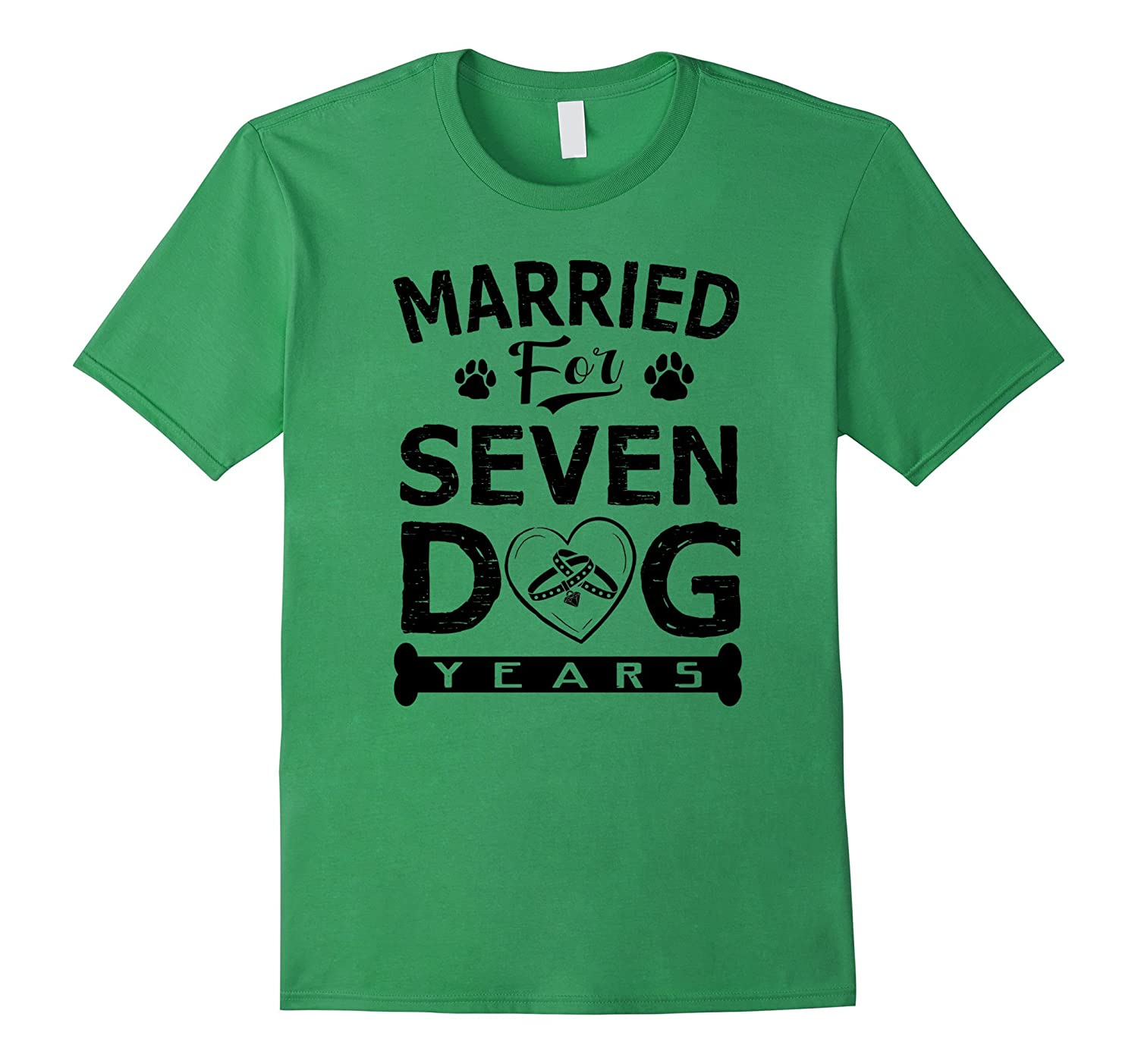 1st Wedding Anniversary Funny Shirt Married For 7 Dog Years-ANZ