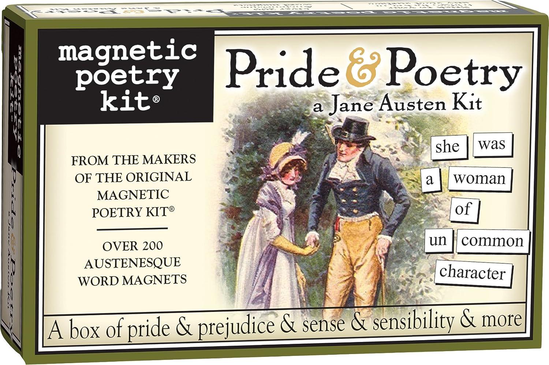 Magnetic Poetry Pride /& Poetry Jane Austen Word Magnet Kit