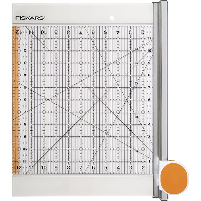 Fiskars Rotary Ruler Combo for Fabric Cutting, 12-Inch x 12-Inch