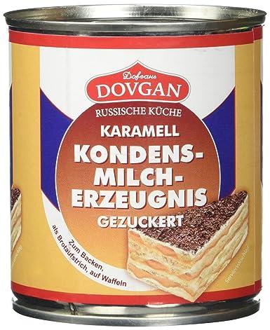 Dovgan Gezuckerte Kondensmilch Karamell 6 Prozent Fett 6er Pack 6