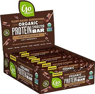product image for Go Raw Protein Bars, Dark Chocolate   Gluten Free Energy Bar   Organic   Vegan   Natural (12 Bars)