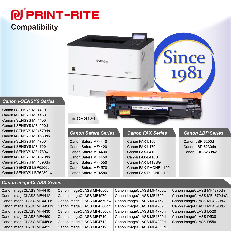 Amazon com: PRINT-RITE CRG126 126 3483B001 Black Toner