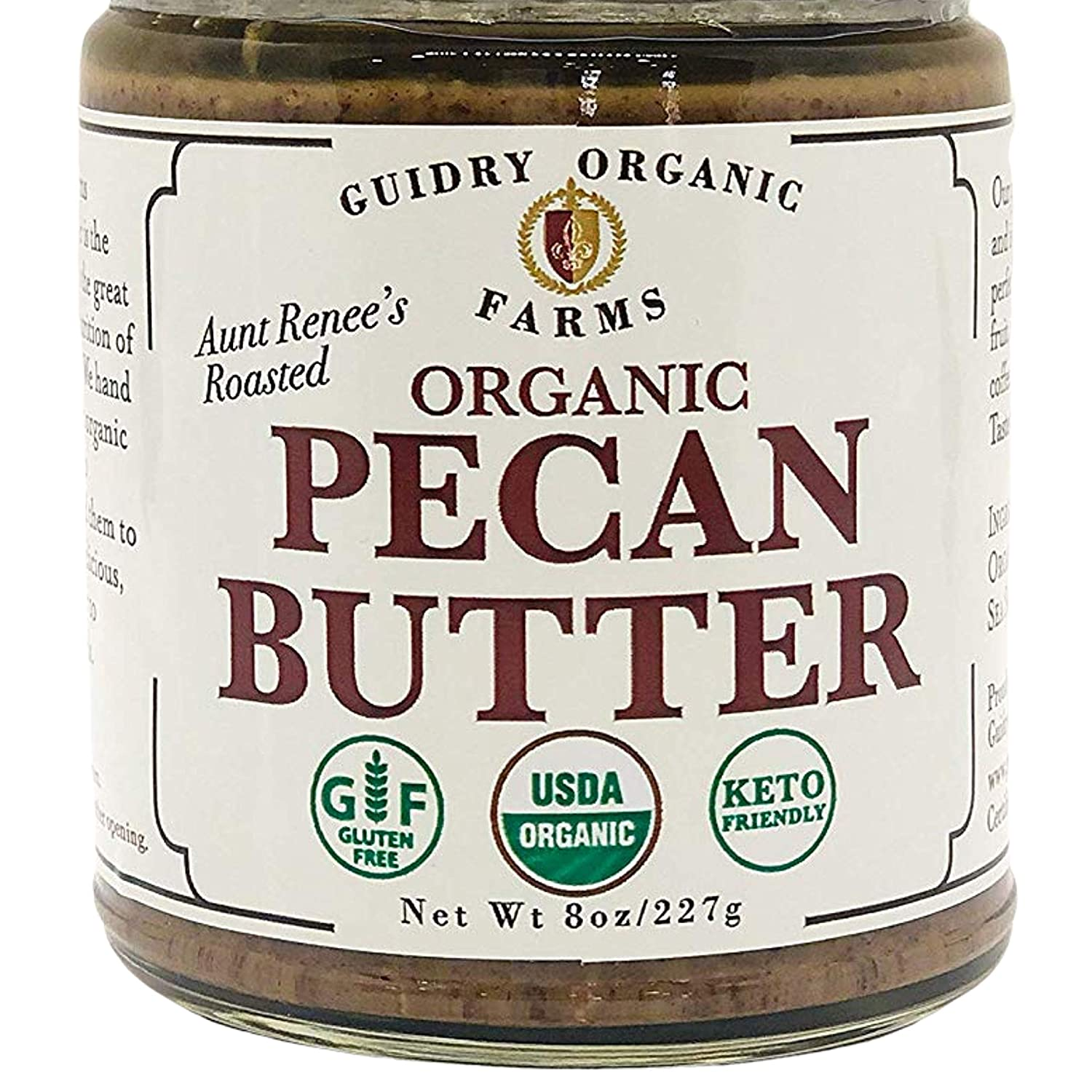 USDA Certified Organic Pecan Butter, Handmade, Small batches, Keto Friendly, Gluten Free, All Natural, made of Organic Pecans, and Sea Salt , no other additives! NO SUGAR ADDED