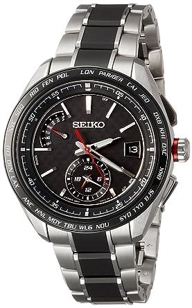 4a1f7ae6a6 [ブライツ]BRIGHTZ 腕時計 BRIGHTZ ソーラー電波 スポーティライン カーボン調黒文字盤 チタンモデル