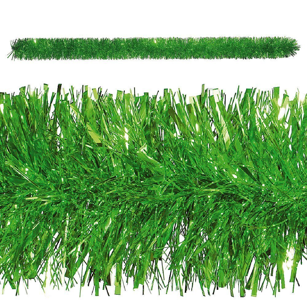 10, 8 m di stagno ghirlanda di Natale Gioielli pellicola metallica in verde/Metallic Garland Green Dresseto