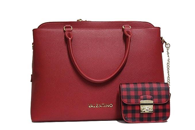 Mario Valentino Valentino by Metropolis Bolso de mano rojo: Amazon.es: Ropa y accesorios