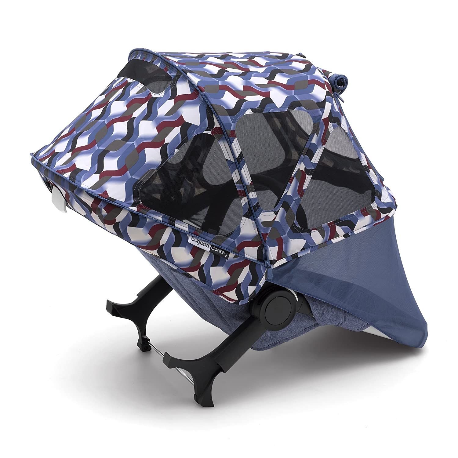 Stellar Extendable Sun Canopy with Mesh Ventilation Panels Made with Reflective Materials for Nighttime Strolling Bugaboo Donkey2 Breezy Sun Canopy