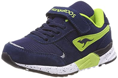 KangaROOS Unisex-Kinder Rodo V Low-Top, Blau (Dk Navy/Lime), 36 EU