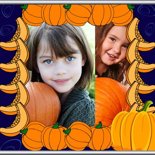 Orange Halloween Wallpaper (Pumpkin Photo Collage)
