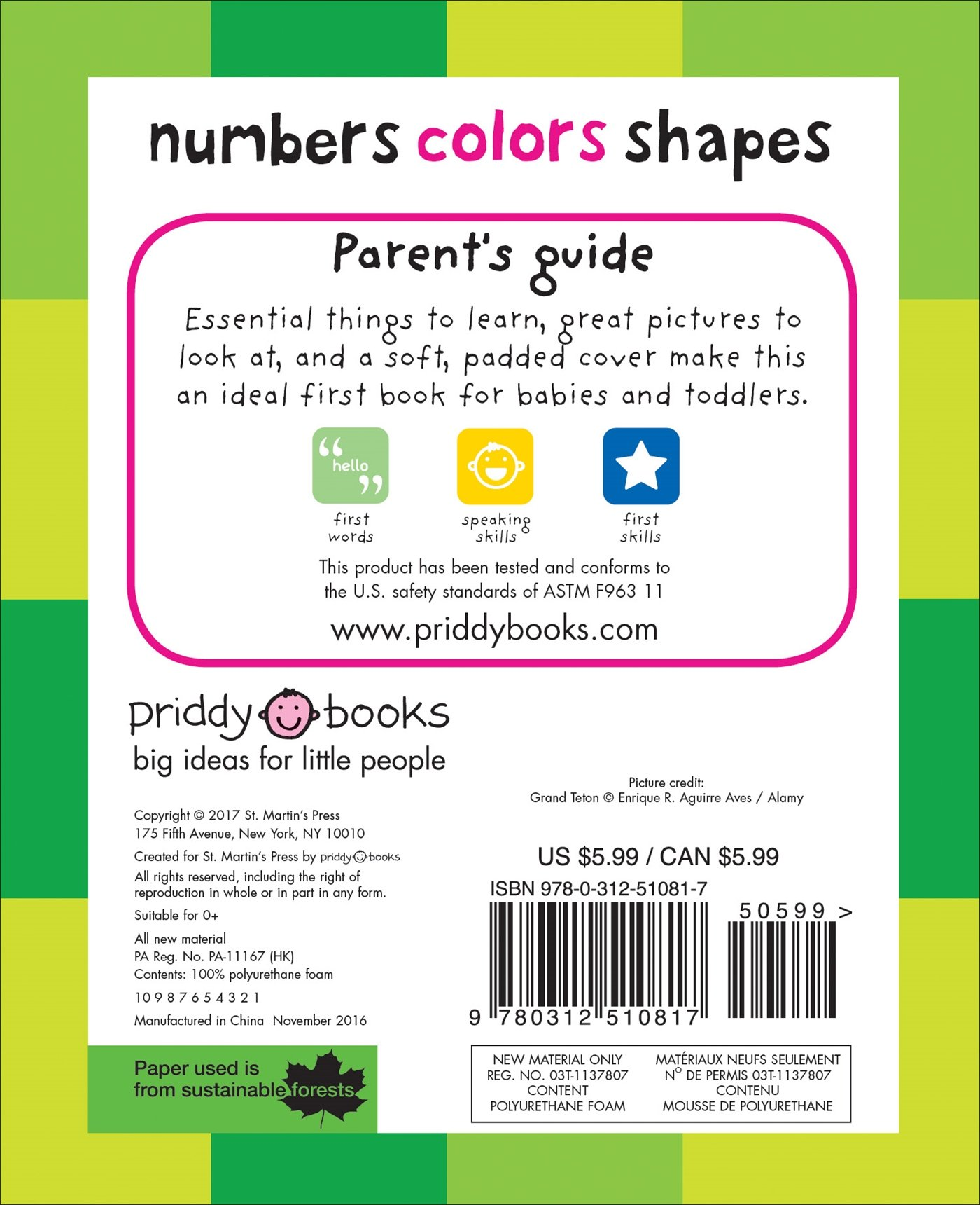 Amazon Numbers Colors Shapes First 100 9780312510817 Roger Priddy Books