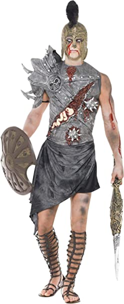 Smiffys - Disfraz de gladiador zombi para hombre, talla L (32886L ...