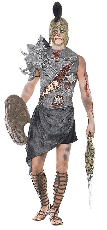 Smiffys - Disfraz de gladiador zombi para hombre, talla L (32886L)