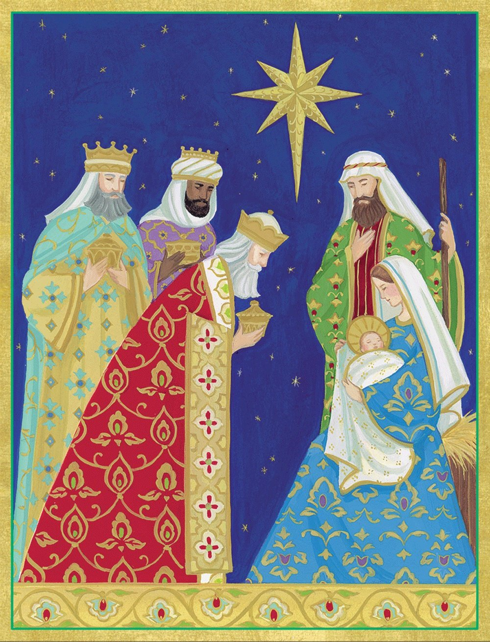 Final sale Entertaining with Caspari Nativity Christmas Cards (Box ...