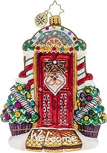 Christopher Radko Hand-Crafted European Glass Christmas Decorative Figural Ornament, Sweet Home Door Decor!
