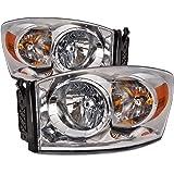 PERDE Dodge Ram Truck Lite Smoke Lens Halogen Headlights Headlamps Set Pair