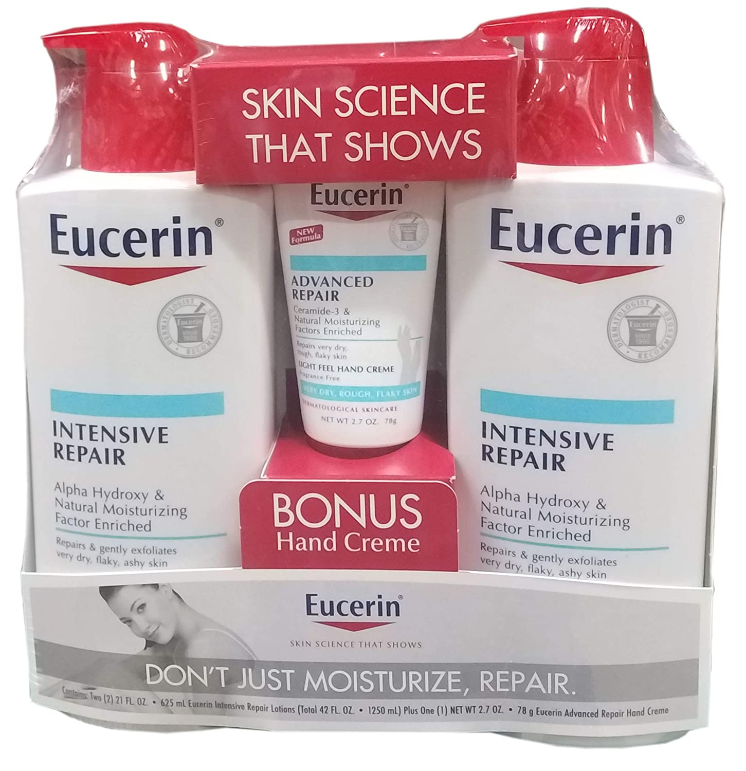 Eucerin Plus Lotion With Hand Cream, 44.7 Ounce