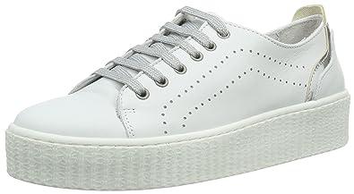 FS161211, Damen Sneakers, Weiß (White Silver), 40 EU Laufsteg München