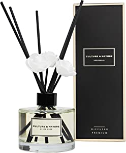 CULTURE & NATURE Reed Diffuser 6.7 oz ( 200ml ) Black Rose Scented Reed Diffuser Set