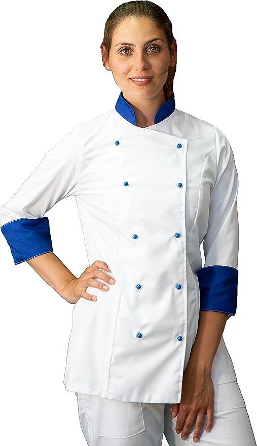 taglie da XS a XXXXL Made in Italy nera e rossa casacca chef donna giacca cuoco tessile astorino Ricamo Gratuito