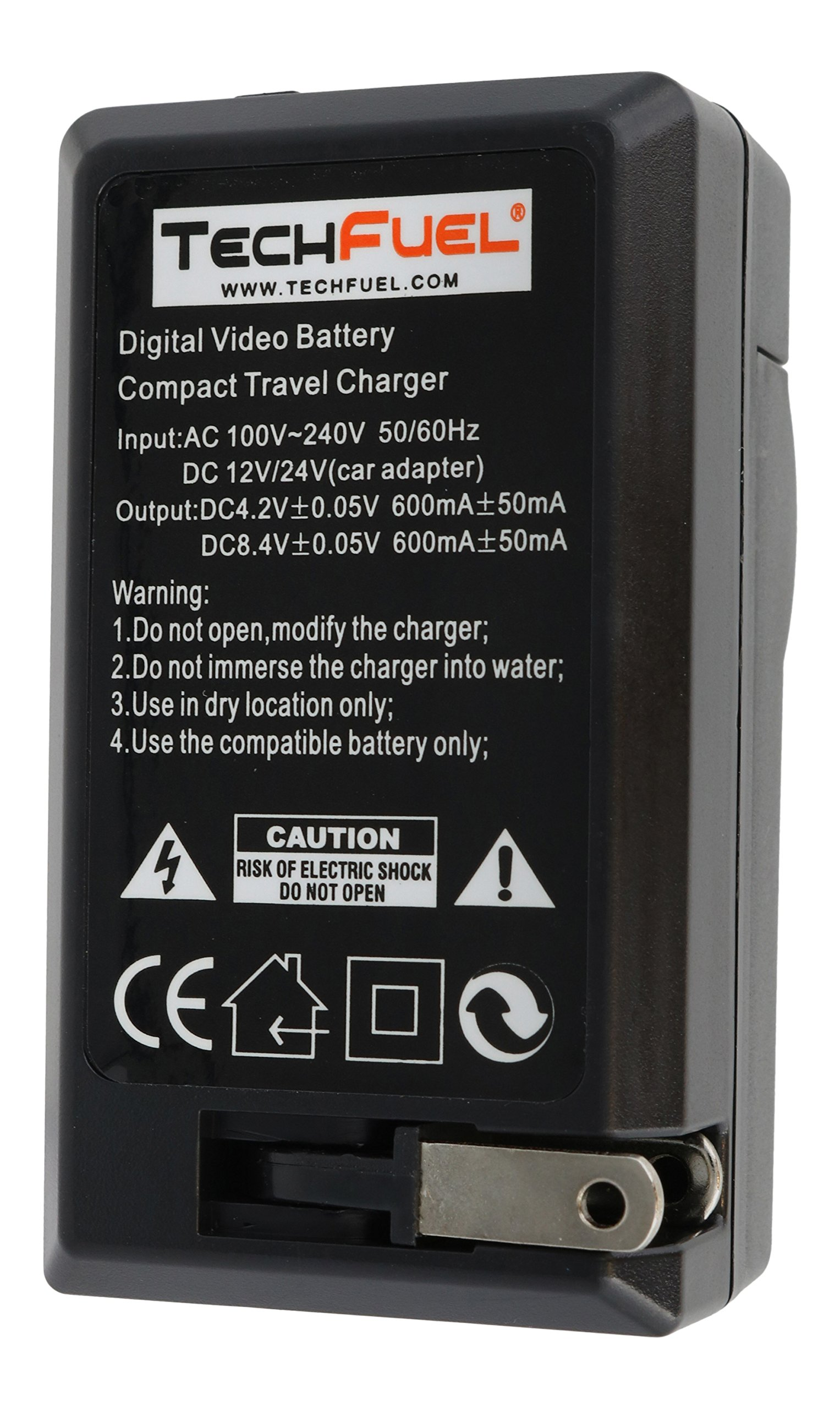 TechFuel Battery Charger Kit for Panasonic HDC-HS9 Camcorder - For Home, Car and Travel Use by TechFuel (Image #7)