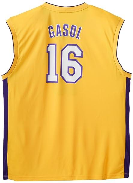 adidas NBA Los Angeles Lakers Pau Gasol Gold - Camiseta ...