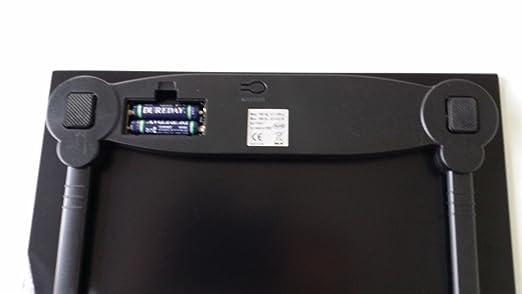 G&G A5-BF - Báscula digital (cristal, 180 kg, funciona con pilas AAA), color negro: Amazon.es: Salud y cuidado personal